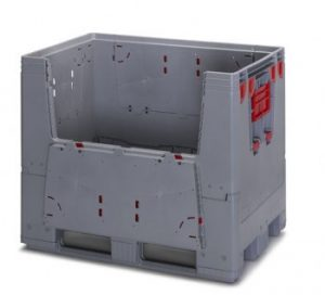 Collapsible Pallet Boxes with Flaps